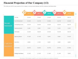 Financial Projection Of Our Company Beginning Ppt Powerpoint Presentation Styles Backgrounds