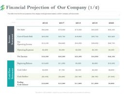Financial Projection Of Our Company M2205 Ppt Powerpoint Presentation Model Graphics Tutorials