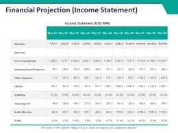 Financial Projection Ppt Summary Background Image