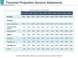 Financial Projection Presentation Diagrams