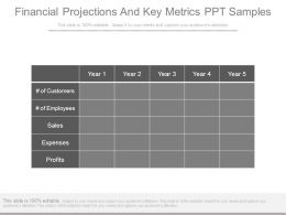 Financial Projections And Key Metrics Ppt Samples