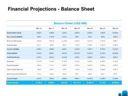 Financial Projections Balance Sheet L1387 Ppt Powerpoint Presentation Structure
