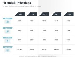 Financial Projections Expenses 2019 To 2023 Powerpoint Presentation Icons
