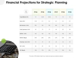 Financial Projections For Strategic Planning Target Market Ppt Slide
