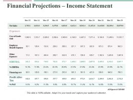 Financial Projections Income Statement Ppt Professional File Formats