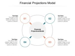 Financial Projections Model Ppt Powerpoint Presentation Slides Graphics Template Cpb