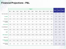 Financial Projections P And L Growth Ppt Powerpoint Presentation Ideas Professional