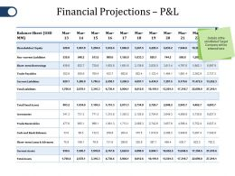 Financial Projections P And L Ppt File Rules