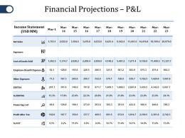 Financial Projections P And L Ppt File Samples