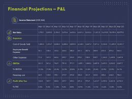 Financial Projections P And L Ppt Powerpoint Presentation Layouts Graphics Tutorials