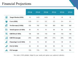 Financial Projections Ppt Example