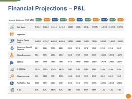 Financial Projections Ppt Pictures Icons