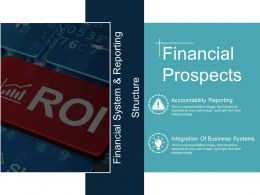 Financial Prospects Ppt Model