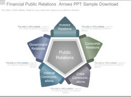 Financial Public Relations Arrows Ppt Sample Download