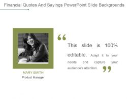 Financial Quotes And Sayings Powerpoint Slide Backgrounds