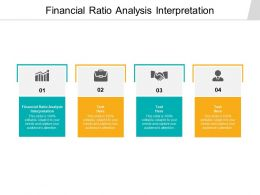 Financial Ratio Analysis Interpretation Ppt Powerpoint Presentation Graphics Cpb