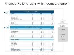 Financial Ratio Analysis With Income Statement