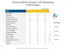 Financial Ratio Analysis With Operating Profit Margin