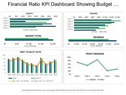 Financial Ratio Kpi Dashboard Showing Budget Revenue And Profit Margins