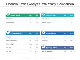 Financial Ratios Analysis With Yearly Comparison