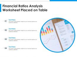 Financial Ratios Analysis Worksheet Placed On Table
