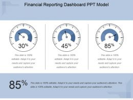 Financial Reporting Dashboard Ppt Model