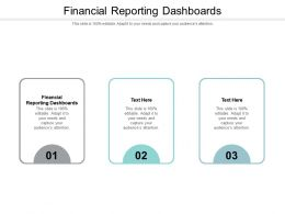 Financial Reporting Dashboards Ppt Powerpoint Presentation Portfolio Skills Cpb