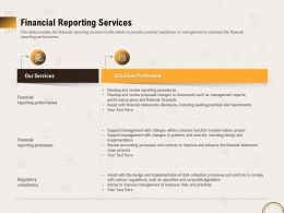 Financial Reporting Services Performed Ppt Powerpoint Model