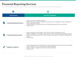 Financial Reporting Services Performed Ppt Powerpoint Presentation Infographics Show