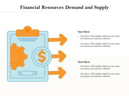 Financial Resources Demand And Supply