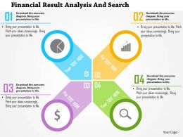 Financial Result Analysis And Search Flat Powerpoint Design