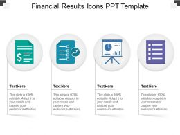 Financial Results Icons Ppt Template