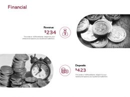 Financial Revenue Deposits E50 Ppt Powerpoint Presentation Inspiration Visuals