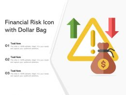 Financial Risk Icon With Dollar Bag