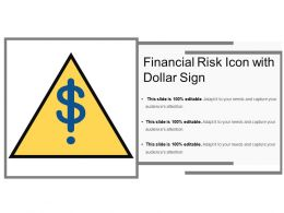 Financial Risk Icon With Dollar Sign