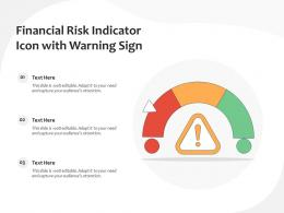 Financial Risk Indicator Icon With Warning Sign