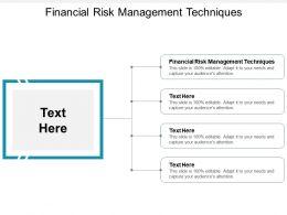 Financial Risk Management Techniques Ppt Powerpoint Presentation File Graphics Cpb