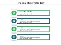 Financial Risk Profile Test Ppt Powerpoint Presentation Infographic Template Graphics Cpb