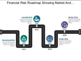 Financial Risk Roadmap Showing Market And Credit Risk