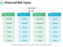 Financial Risk Types Ppt Powerpoint Presentation File Slide Download
