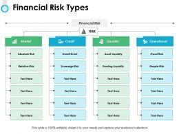 Financial Risk Types Ppt Powerpoint Presentation File Slide Download