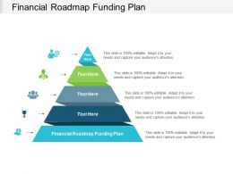 Financial Roadmap Funding Plan Ppt Powerpoint Presentation Gallery Display Cpb