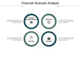 Financial Scenario Analysis Ppt Powerpoint Presentation Gallery Graphics Download Cpb