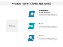 Financial Sector Circular Economics Ppt Powerpoint Presentation Inspiration Clipart Cpb