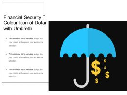 Financial Security Colour Icon Of Dollar With Umbrella