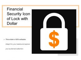 Financial Security Icon Of Lock With Dollar