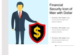 Financial Security Icon Of Man With Dollar