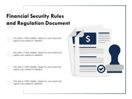 Financial Security Rules And Regulation Document