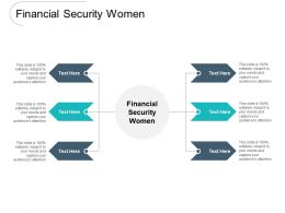 Financial Security Women Ppt Powerpoint Presentation Pictures Objects Cpb