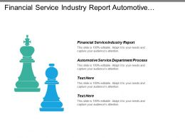 Financial Service Industry Report Automotive Service Department Process Cpb